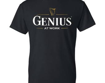 GENIUS Mens / Womens T-shirt High Quality Fashion Style Hand Crafted Apparel Bulk Orders Discounts !
