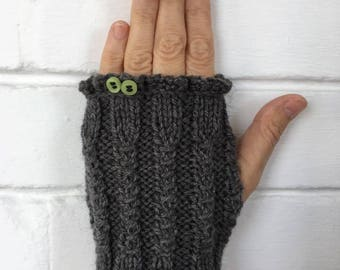 Gloves with one finger. Winter / outumn , warm and soft.