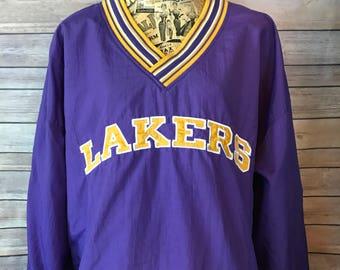 Vintage Champion Los Angeles Lakers Pullover Jacket