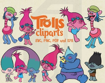 Minions svg etsy trolls cliparts trolls centerpiece trolls invitation trolls movie clip arts 300 ppi stopboris Images