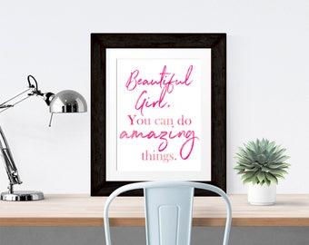 Beautiful Girl Printable