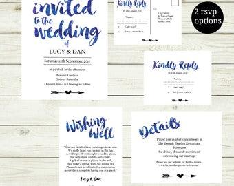 Wedding Invitation | Printable Wedding Invitation | Wedding invitations | Floral Wedding | Wedding Invites |Lucy Suite|Made in Australia