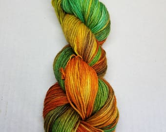 Hand dyed yarn Peruvian Highland Wool