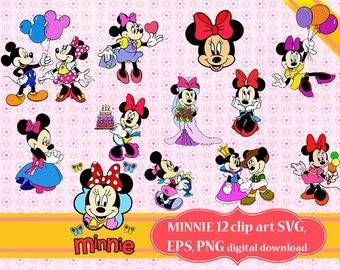 Minnie Svg, Minnie mouse Clipart, Disney Minnie svg, Minnie mouse png, Minnie applique, DIsney minnie printable, Cartoons clipart, svg