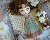 Blythe green dress for Blythe / Pullip dress / Blythe clothes / romantic  vintage dress