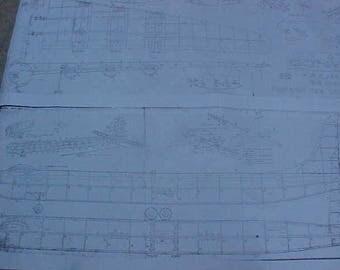 B-36 Bomber Model Airplane Plan 69 Inch Wing Span