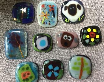 Handmade Fused Glass Magnets