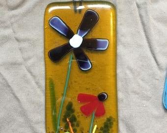 Handmade Fused Glass Flower Suncatcher