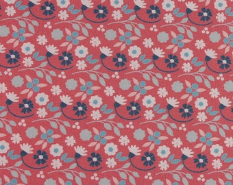 1/2 metre of Floral Print Fabric from Fabric Freedom - Flora on Pink