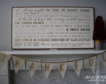 O Holy Night Wood Song Sign 24X48