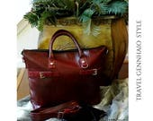 Clearance Sale - Vegan Leather Bag,  Laptop Bag, Tote Bag, Laptop Case, Computer Bag, Computer Case, Faux Leather, Gift Idea, Re purpose