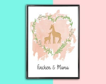Personalized image deer | Mother's day