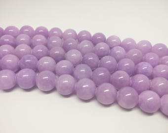 Purple Beads Light Purple Beads Jade Beads Candy Jade Beads Mountain Jade Beads Mashan Jade Beads Jadeite  Beads for Jewelry Making