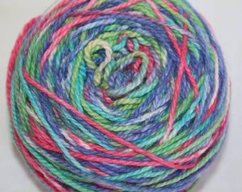Rainbow Wool Cotton Light Worsted Yarn Pack of 12 balls, Knitter Gift, Stocking Stuffer, Funky Yarn, Pretty Yarn, Yarn cake, Multi Color