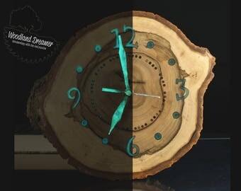 Glow In The Dark Wood unique wall clocks personalized wall clocks custom wall