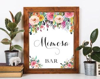 Mimosa bar sign, mimosa bar, printable mimosa bar , mimosa sign. bubbly bar, mimosa, bridal shower mimosa, mimosa bar print, mimosa bar, #1