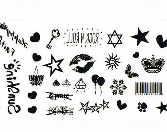 Temporary tattoos various M125 19 X 9 CM