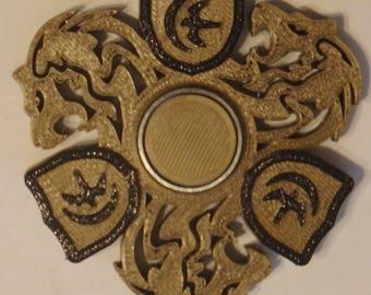 Lion w/ Shield Fidget Spinner
