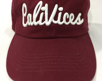 Maroon CaliVices Dad Cap
