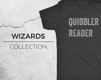QUIBBLER - Harry Potter Inspired T-Shirt, Hogwarts, Wizarding World, Ron Weasley, Hermione, Luna Lovegood, Geek Shirt, Novelty Tee