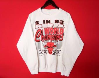 vintage chicago bull sweatshirt basketball team large mens size
