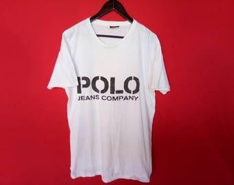 vintage polo jeans company ralph lauren medium mens t shirt