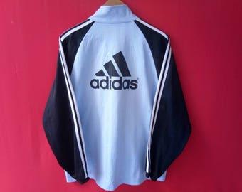 vintage adidas big logo jacket large mens