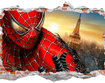 Spiderman, Smashed Wall Sticker, Wall Decals