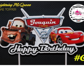 Cars MCQueen cake  topper, Cars Party Decoration
