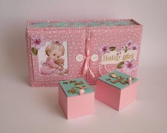Baby Memory Box, Baby Shower Gift, Baby Keepsake Box, Baby Girl Keepsake, Memory Box, New Baby Box, Personalised Memory Box, Treasured Box
