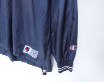 vintage 90s champion windbreaker size 0 track jacket champion track top champion windbreaker champion usa champion tracksuit