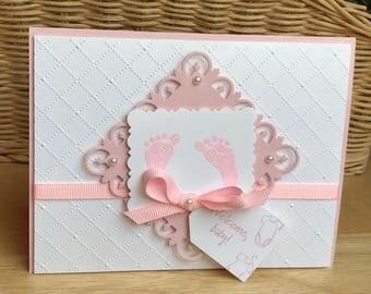 Welcome baby card, Welcome baby girl card, Welcome baby boy card.