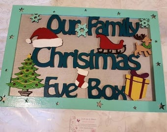 Christmas eve box christmas gifts idea wooden box handpainted personalize  custom gift for son gift for daughter wood gift childrens