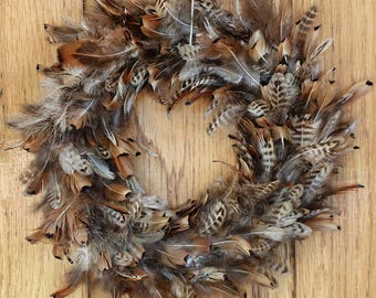 Ringnecked Pheasant Wreath - 15 Inch | Ringneck Pheasant Wreath | Pheasant Wreath | Feather Wreath