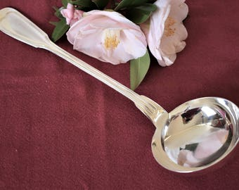 French vintage silver plated louche or serving spoon or ladle