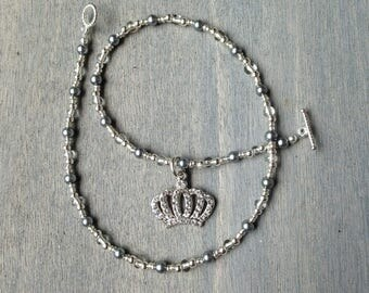 Girl's Princess Crown Necklace