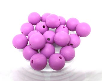 10 12mm - purple Silicone beads