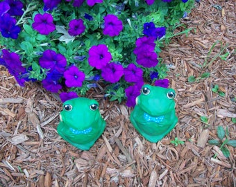 Home and Garden Decor,Frogs,Toads,Flower Garden,Fairy Garden,Yard Art,Whimsical Frogs,Ceramic Frog ,Ceramic Toad