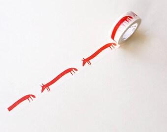 Cute Fox Washi Tape/ Floral Washi Tape/Striped Washi / Masking tape/ japanese washi tape/Planner Supplies