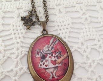 Rabbit cameo necklace.
