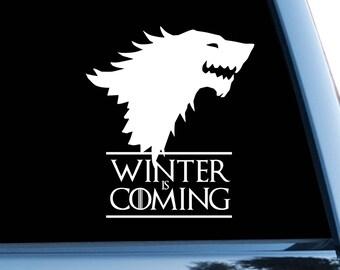 Game Of Thrones Car Sticker Starks Car Decal Dire Wolf Symbol Bumper Sticker Logo Bumper Decal Window Sticker Vinyl Stark Sigil Head m1147