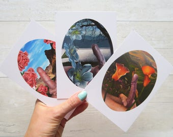 A6 Postcard prints of miniature paintings