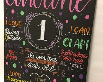 Birthday Chalk Sign - The Caroline