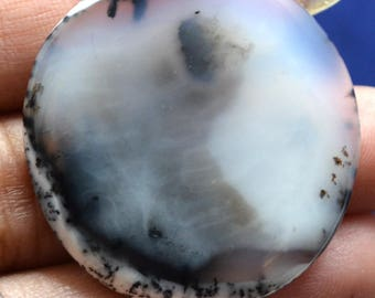 AAA Qlty Jewelrymaking Natural Dendrite Opal Round CAbochon 34x38 mm apx,Semiprecious Opal Cabochon,Howlite gemstone Wholesale lot#96