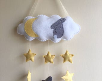 Handmade Children's Bunny Rabbit Wall Hanging