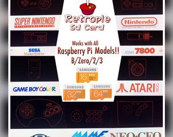 Retropie Arcade Card for All Raspberry Pi Models
