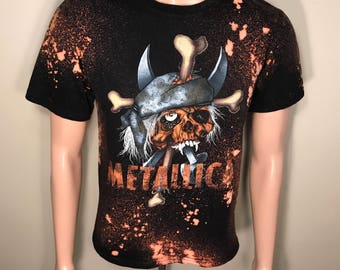 Metallica tour shirt // acid washed // faded distressed // murder is my future // heavy metal band tee // thrashed grunge tee
