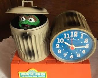1970s Oscar the Grouch Alarm Clock by Bradley