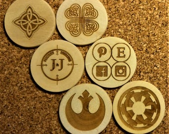 Personalized Wooden Coins