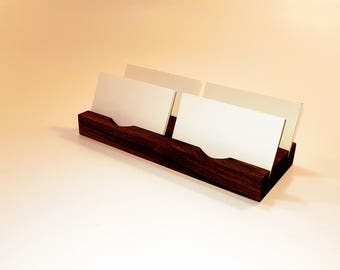 Wood Business Card Holder. Multiple Business Card Stand. Wooden Card Holder. Personalized Wood Business Card Holder.